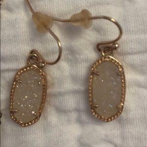 Kendra Scott Rose Gold Drusy Earrings